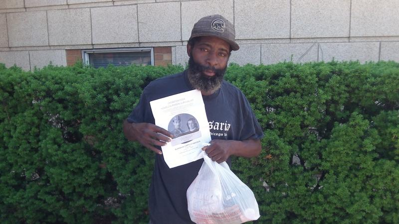 Homeless Veteran in Chicago.