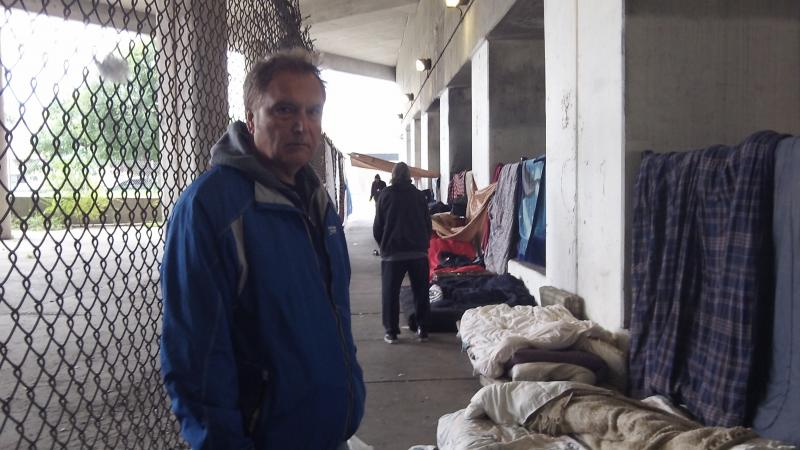 AE La Piana founder and president of GCA visiting a homeless encamptment
