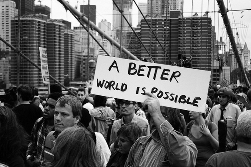 A BETTER WORLD IS POSSIBLE POSTER